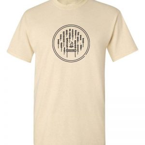 poplar grove campout t-shirt in oat and white